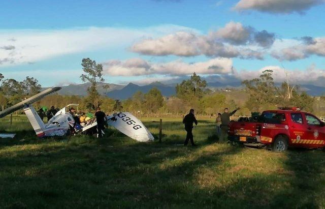 Vuelo fatal: Tres muertos dejó accidente de avioneta en Ubaté [FOTOS]