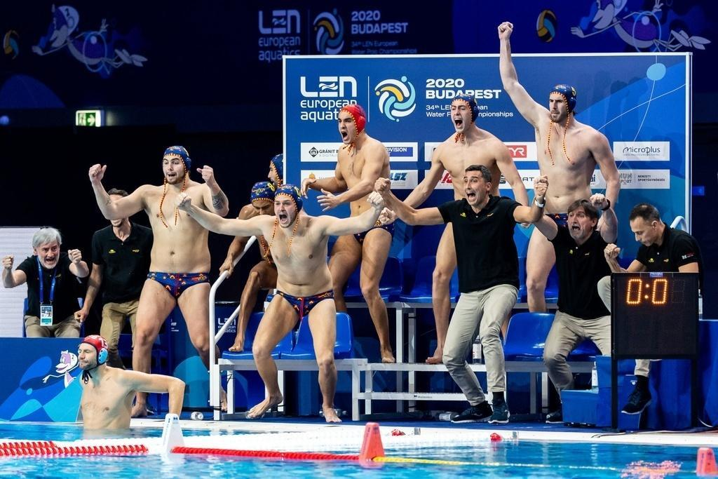 Spain   Budapest 22/01/2020 Duna Arena  Serbia (white caps) Vs. Spain (blue caps) Men XXXIV LEN European Water Polo Championships 2020 Photo  ©Pasquale Mesiano / Deepbluemedia / Insidefoto