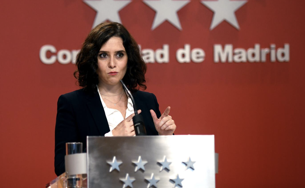 La presidenta de la Comunidad de Madrid, Isabel Díaz Ayuso - EUROPA PRESS/O.CAÑAS.POOL - Europa Press