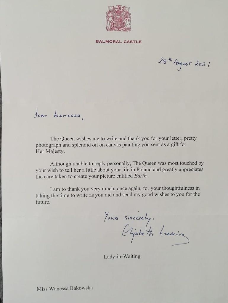 Carta de la reina Isabel II